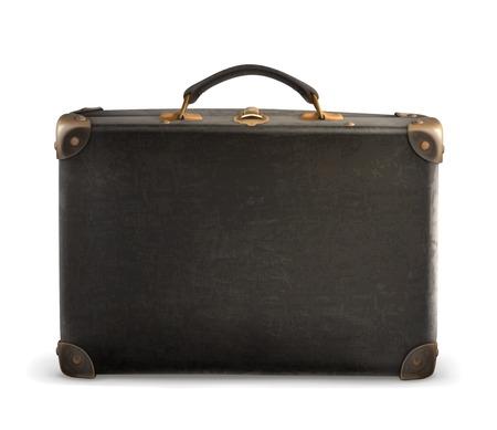 Antigua maleta vector Ilustración de vector