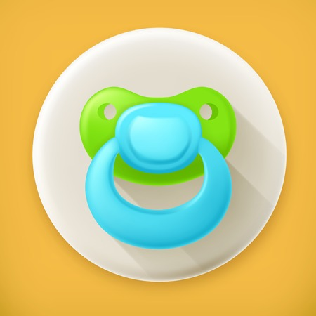 reassure: Pacifier, long shadow vector icon
