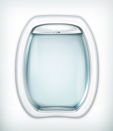 looking through an object: Porthole, transparent glass Illustration