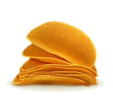 salty: Potato chips, vector illustration