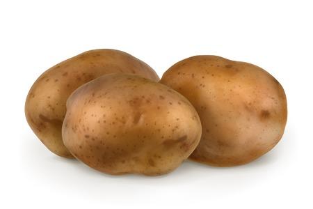 Aardappelen, vector illustratie Stock Illustratie