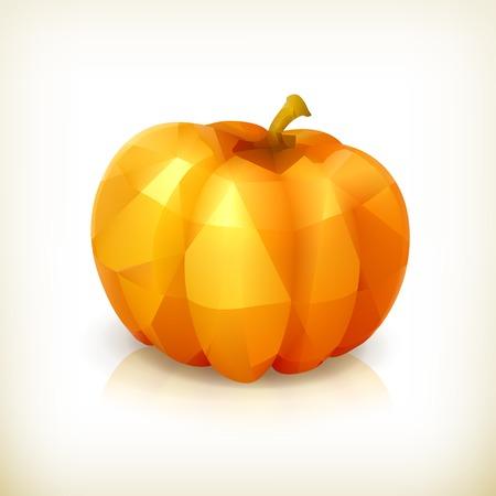 triangulation: Pumpkin triangulation, icon Illustration