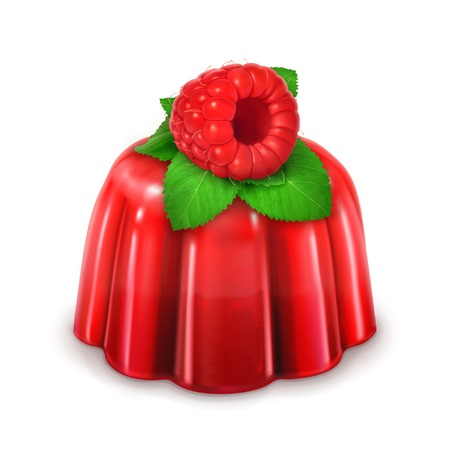raspberry jelly: Raspberry jelly, detailed vector