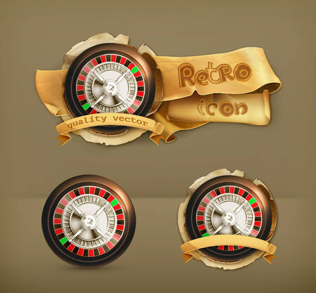 roulette wheel: Roulette, vector icon