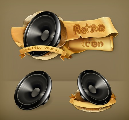 acoustic systems: Speaker, vector icon