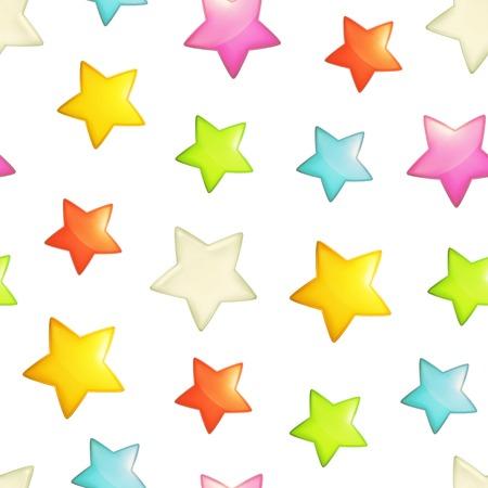 Stars seamless background, vector