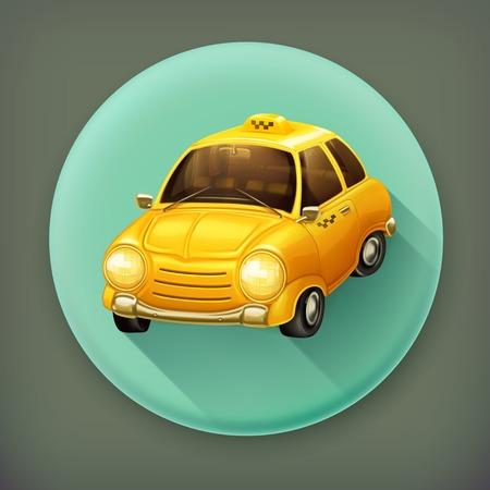 Taxi, long shadow vector icon Vector