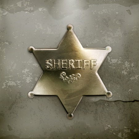 police badge: Sheriff star, old style vector