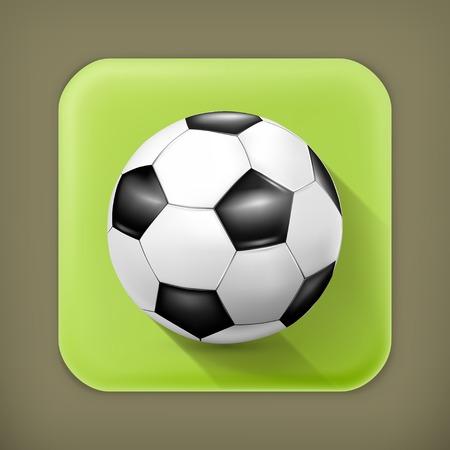 uefa: Fu�ball-Kugel, lange Schatten Vektor-Symbol
