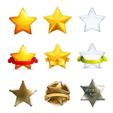 award trophy: Stars icon set, vector