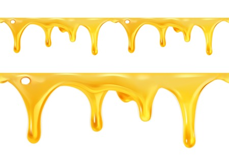 Sweet honey drips seamless vector