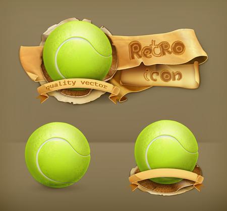 3d ball: Tennis-ball, vector icon