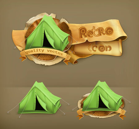 camping tent: Tent, vector icon