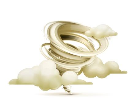 Twister: Tornado, vector icon