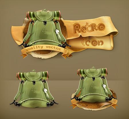 mochila de viaje: Mochila de viaje, icono del vector