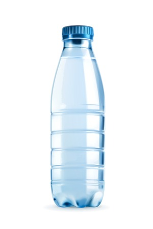 Water bottle vector object