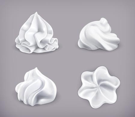 Crema batida, icono de conjunto de vectores Foto de archivo - 32259483