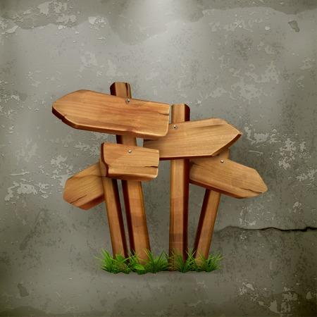 Houten borden oude stijl vector