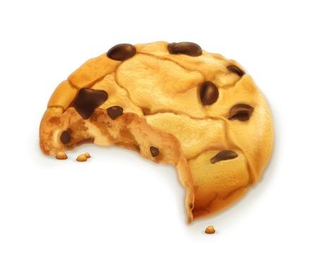 Chocolate cookie, vector icon Vector