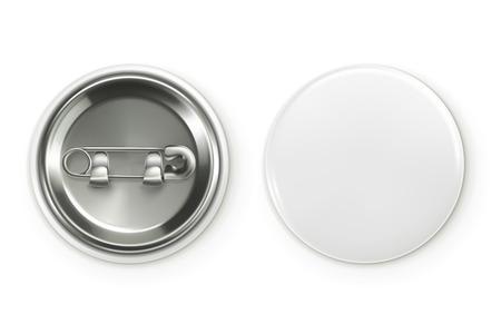 insignias: Insignia blanca en blanco, ilustraci�n vectorial realista