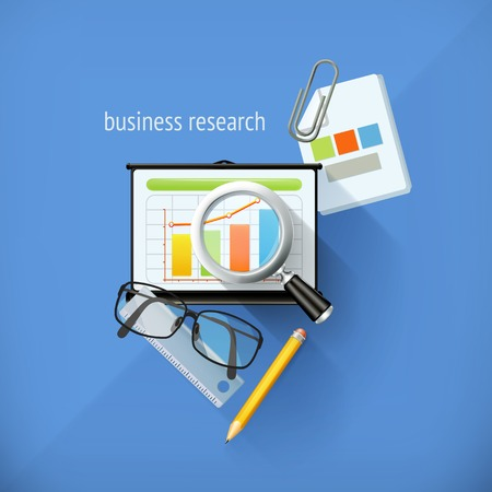 methodology: Start-up business research, analysis and solution, flat design, vector illustration