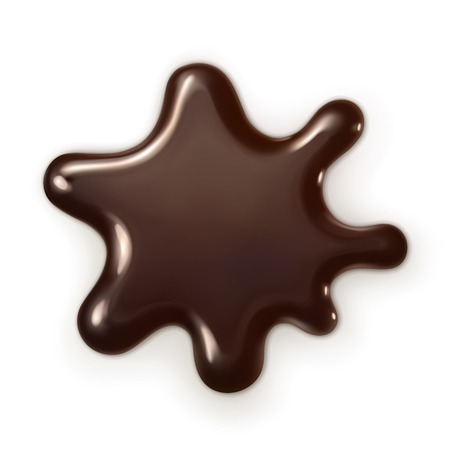 Chocolate drop, vector illustration