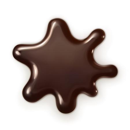 Gota de chocolate, ilustración vectorial Foto de archivo - 32260364