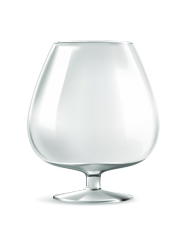 bar ware: Classic cognac glass, whisky glass, bar ware, necessary accessories for parties, stylish illustration with good quality whiskey goblet is always devastated to the last drop