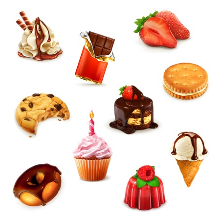 cupcakes isolated: Confectionery Illustration