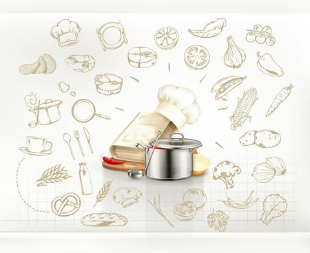 Infografía de cocina Foto de archivo - 32408471