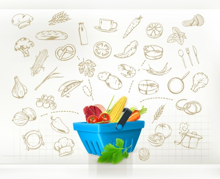 basket icon: Cooking infographics