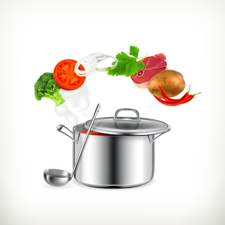 meat soup: Cooking Illustration