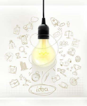 Idea, business infographics vector Vector