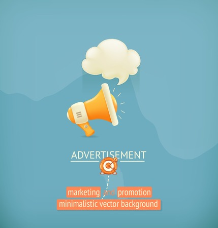 Marketing and promotion, minimalistic vector background Vector