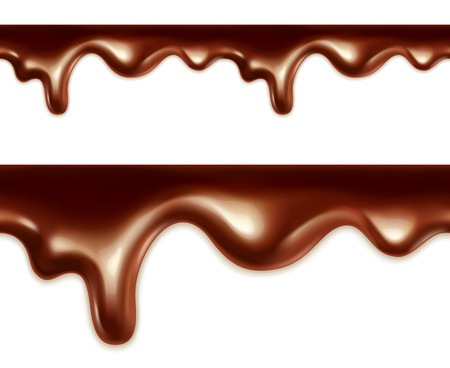 Melted chocolate seamless vector Vector