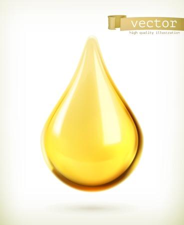 Oil drop, vector icon Illustration