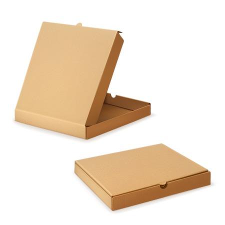 closed box: Cardboard box for pizza, vector illustration Illustration