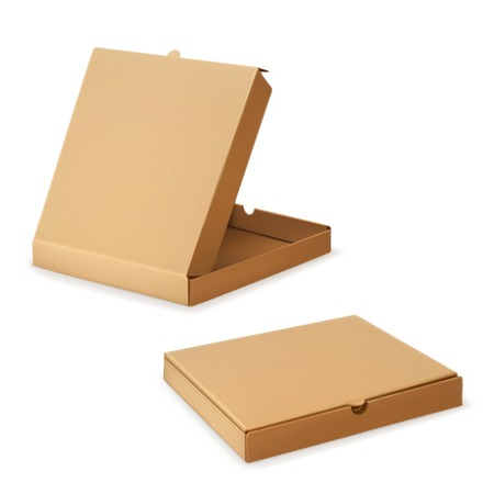 Cardboard box for pizza, vector illustration Illustration