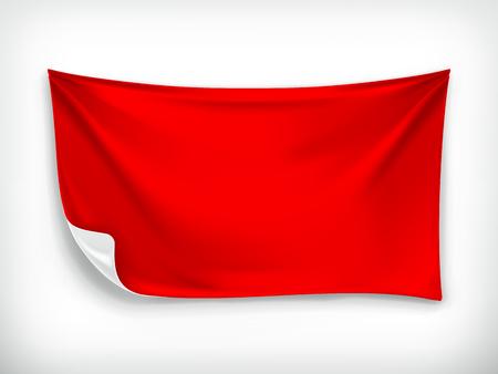 business cloth: Red cloth banner, vector illustration Illustration