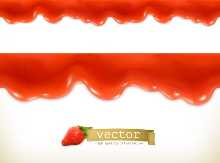 jam: Red sweet drops, seamless vector