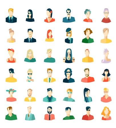 Set of avatars, flat design