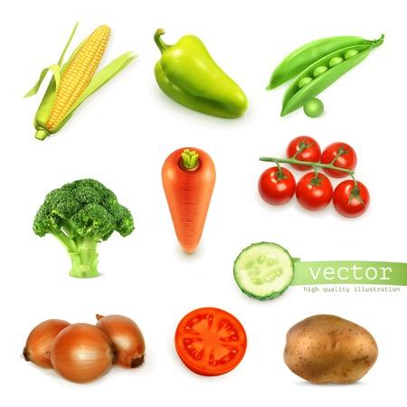 Set van groenten, vector illustratie Stock Illustratie