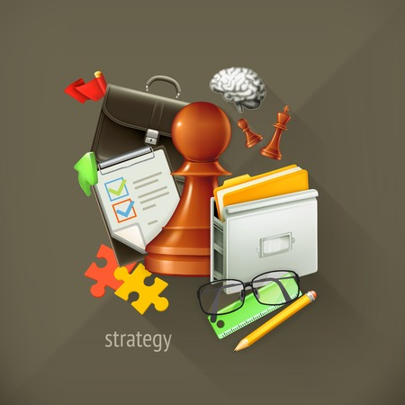 Strategy choice, infographic vector illustration Vector