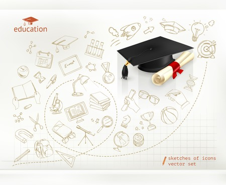 Studying and education, infographics vector Vector