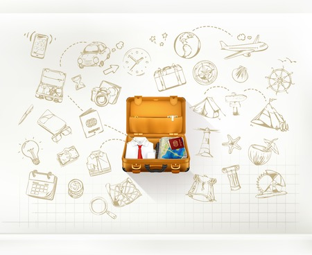 gezi: Seyahat, Infographics vektör