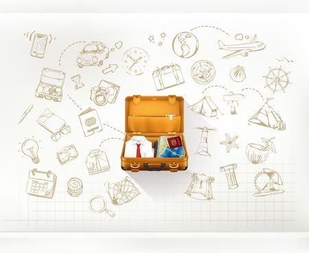 utazási: Utazás, infographics vektor