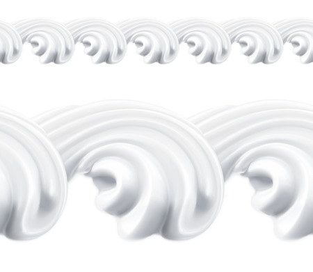 whipped cream: Whipped cream, vector seamless pattern Illustration