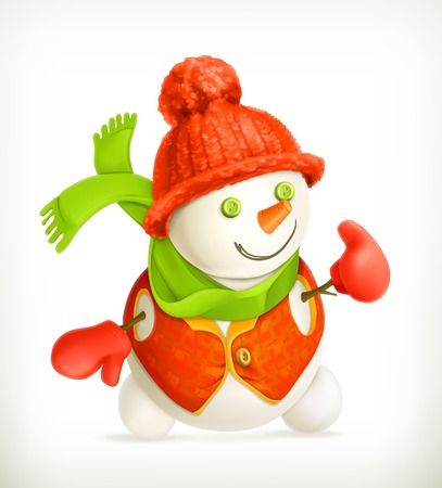 Snowman, vector icon Vector