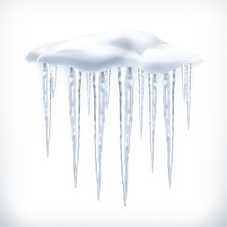 froze: Icicles, vector object