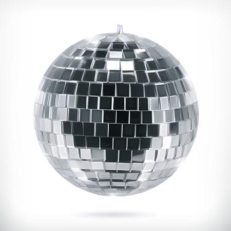 pelota: Bola de disco, icono vector